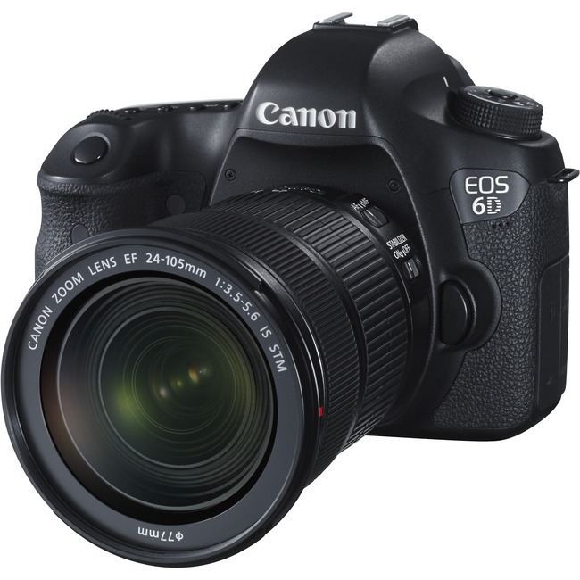 Canon EOS 6D 20.2 Megapixel Digital SLR Camera with Lens - 24 mm - 105 mm - Black