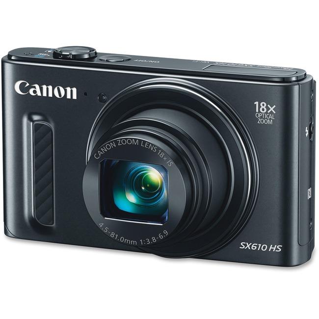 Canon PowerShot SX610 HS 20.2 Megapixel Compact Camera - Black