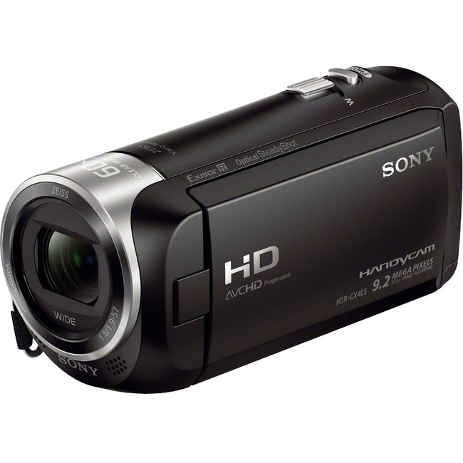 "Sony Handycam CX405 Digital Camcorder - 2.7"" LCD - Exmor R CMOS - Full HD - Black"