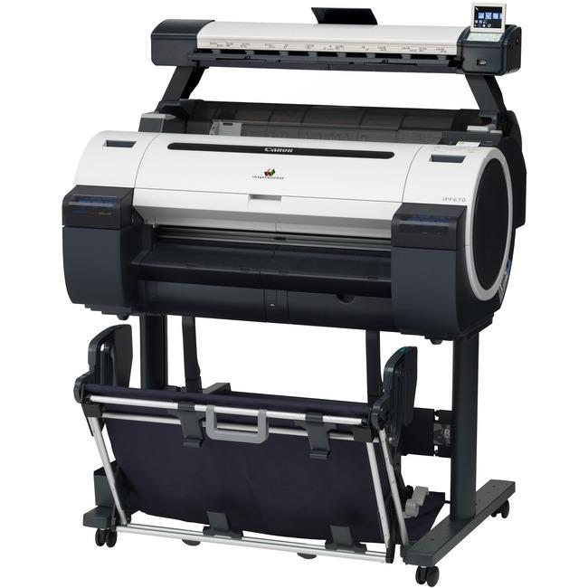 """Canon imagePROGRAF iPF670 Inkjet Large Format Printer - 24"""" Print Width - Color"""