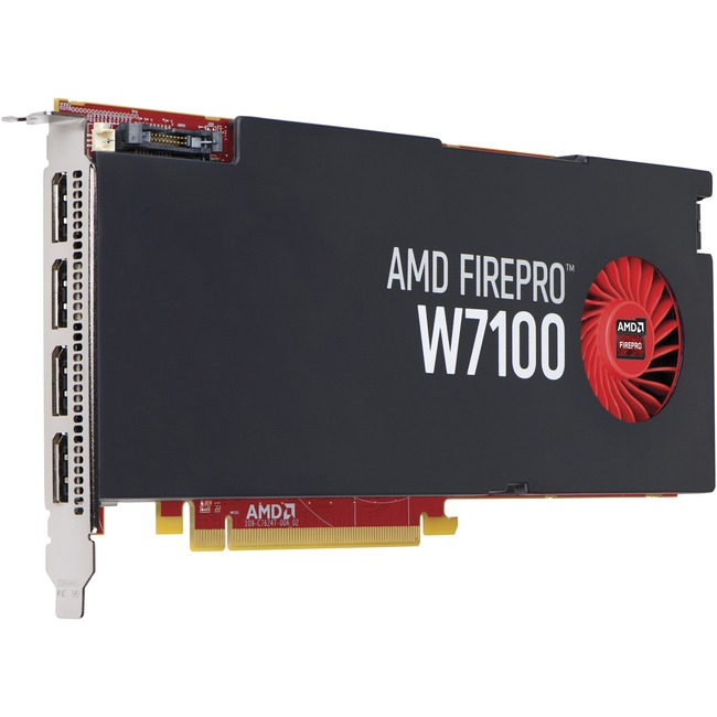 HP FirePro W7100 Graphic Card - 8 GB GDDR5 - PCI Express 3.0 x16 - Full-height - Single Slot Space Required