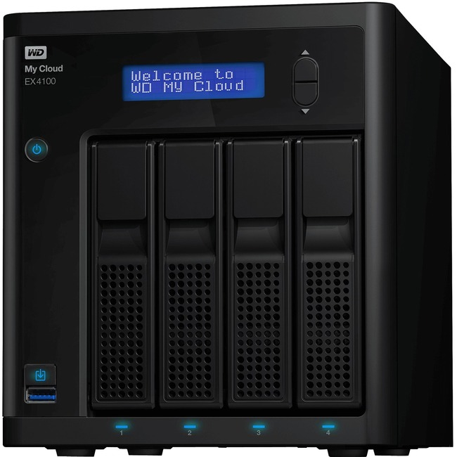 WD My Cloud Business Series EX4100, 8TB, 4-Bay Pre-configured NAS with WD Red™ Drives