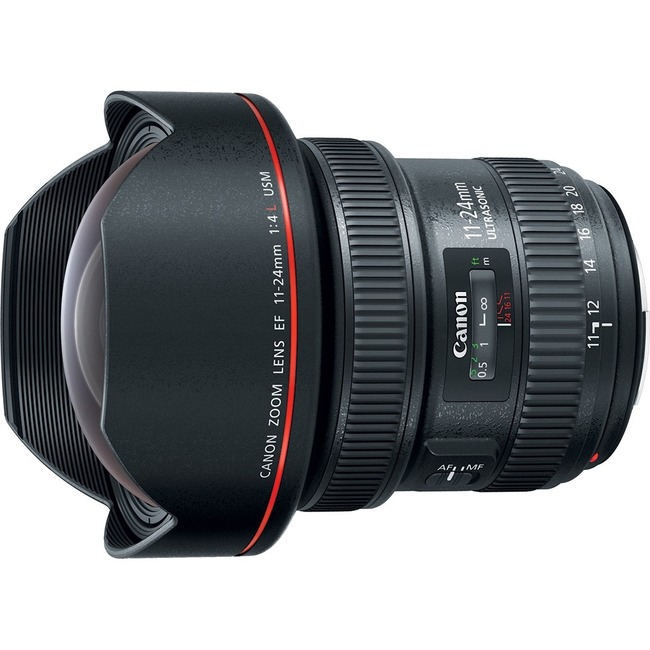 Canon EF - 11 mm to 24 mm - f/4 - Full Frame Sensor - Ultra Wide Angle Zoom Lens for Canon EF