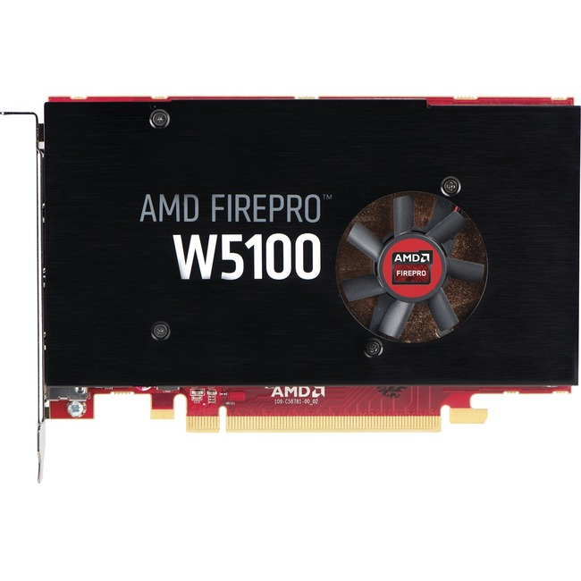 HP FirePro W5100 Graphic Card - 930 MHz Core - 4 GB GDDR5 - PCI Express 3.0 x16 - Full-length/Full-height - Single Slot