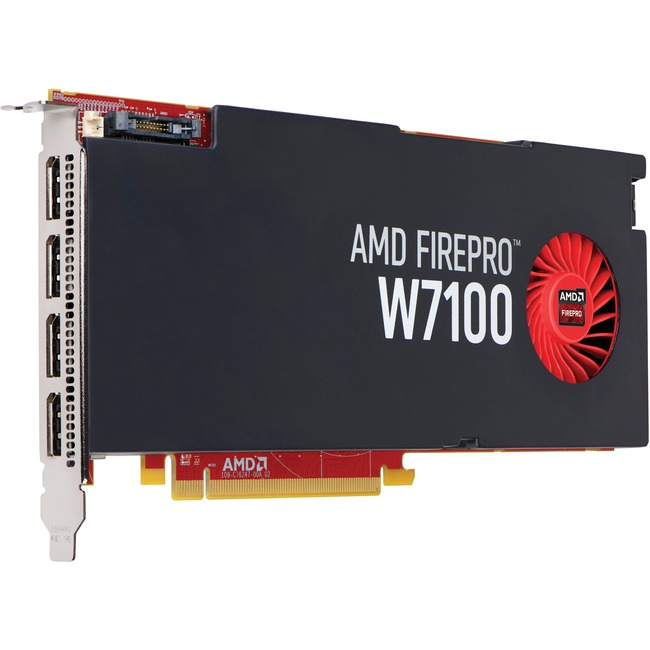 HP FirePro W7100 Graphic Adapter - 8 GB GDDR5 - PCI Express 3.0 x16 - Full-height - Single Slot Space Required
