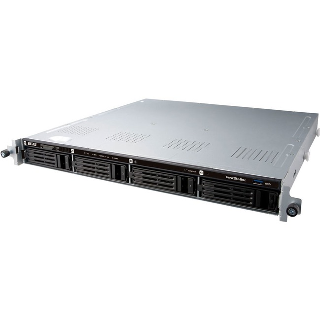 Buffalo TeraStation TS1400R1204 4 x Total Bays NAS Server - 1U - Rack-mountable - Marvell ARMADA 3701.20 GHz - 12 TB HDD - 512 MB RAM DDR3 SDRAM - Serial ATA/600 - R