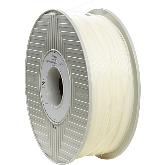 Verbatim PLA 3D Filament 1.75mm 1kg Reel - Natural Transparent - TAA Compliant