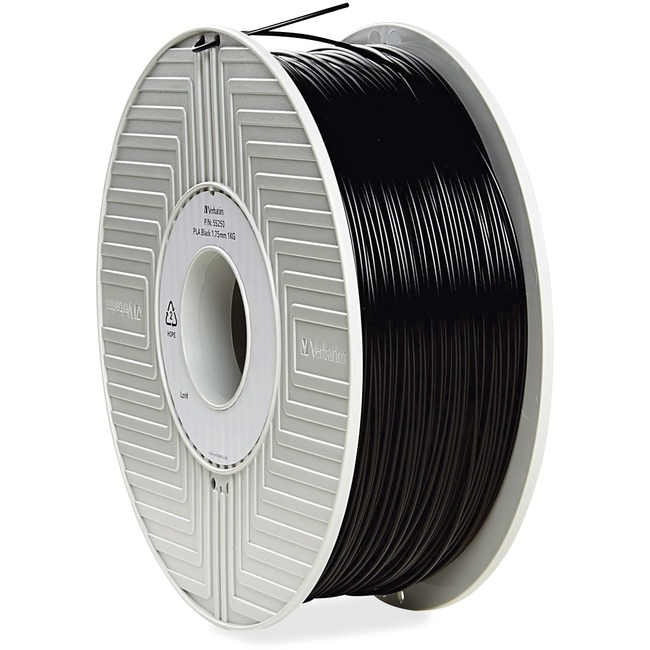 Verbatim PLA 3D Filament 1.75mm 1kg Reel - Black - TAA Compliant
