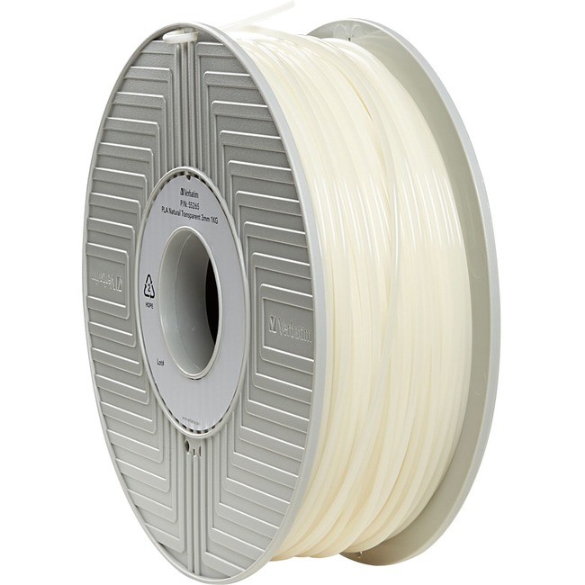 Verbatim PLA 3D Filament 3mm 1kg Reel - Natural Transparent - TAA Compliant