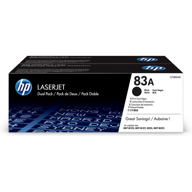 HP 83A Original Toner Cartridge - Dual Pack