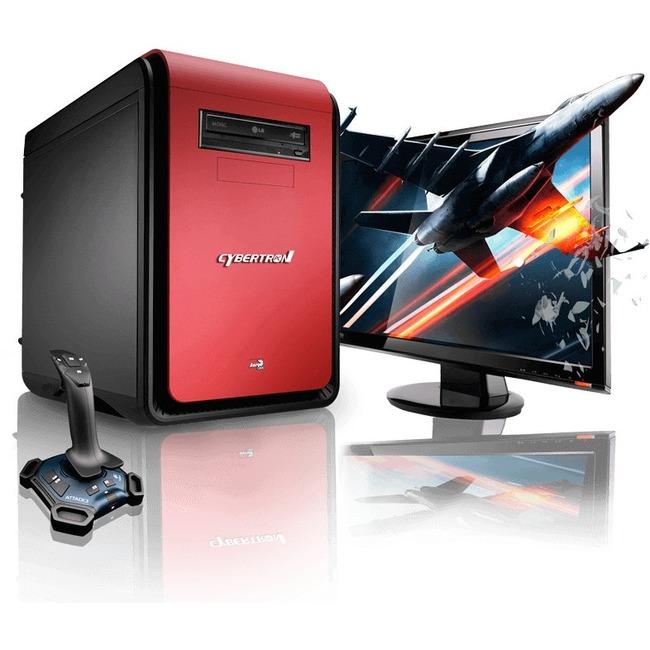 CybertronPC DS-Force II GMDSFORCE215RD Desktop Computer - AMD FX-Series FX-8350 4 GHz - Red
