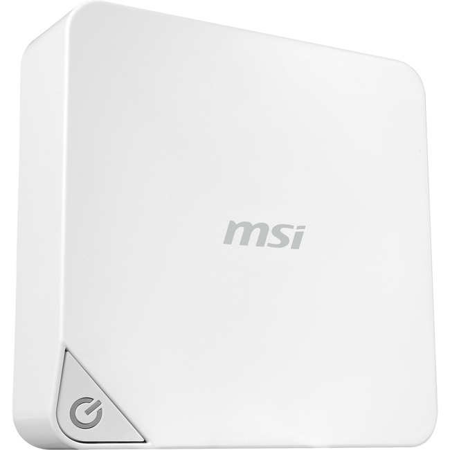 MSI Cubi CUBI-005BUS Desktop Computer - Intel Pentium 3805U 1.90 GHz - Mini PC - White