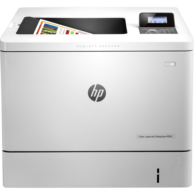 HP LaserJet M553dn Laser Printer - Color - 1200 x 1200 dpi Print - Plain Paper Print - Desktop