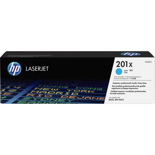HP 201X Original Toner Cartridge - Cyan