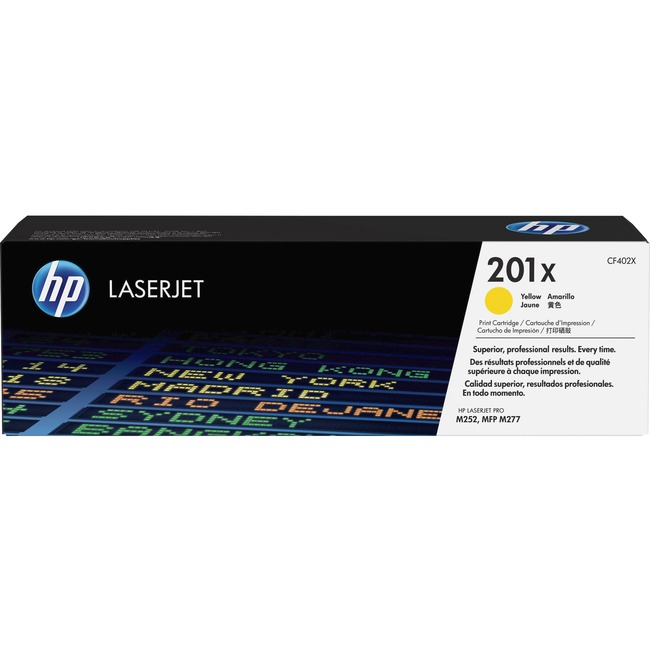 HP 201X Original Toner Cartridge - Yellow
