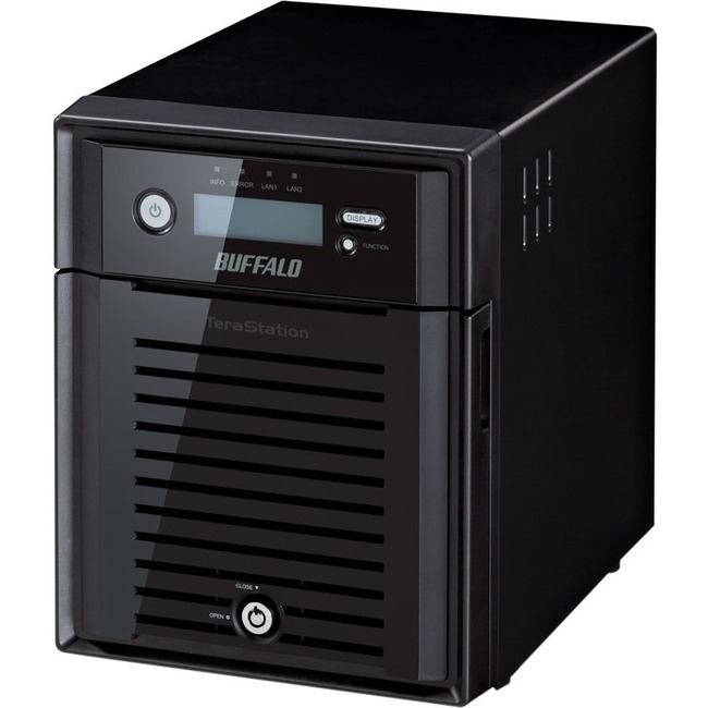 Buffalo TeraStation WS5400DRW2 4 x Total Bays NAS Server - 1 x Intel Atom D2550 Dual-core 2 Core 1.86 GHz - 12 TB HDD - 4 GB RAM DDR3 SDRAM - Serial ATA/300 - RAID