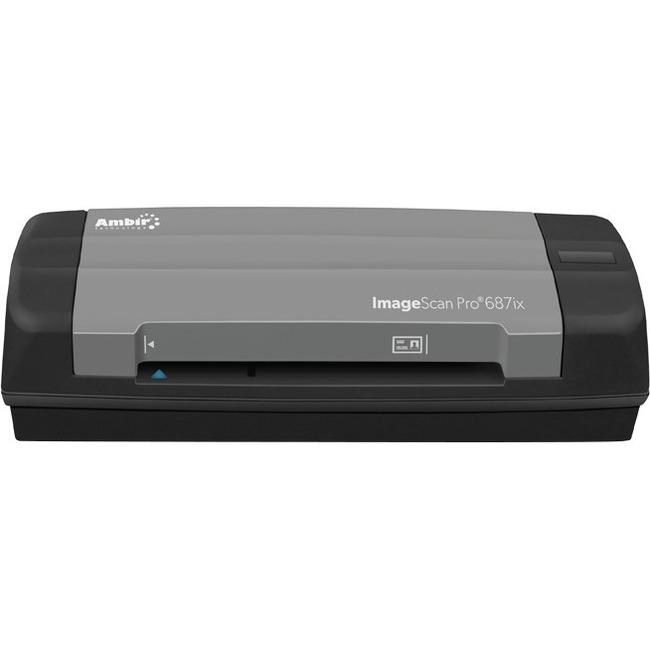 Ambir ImageScan Pro 687ix Card Scanner - 600 dpi Optical