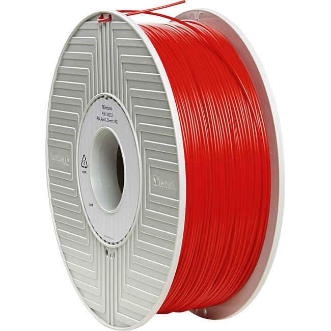Verbatim PLA 3D Filament 1.75mm 1kg Reel - Red - TAA Compliant