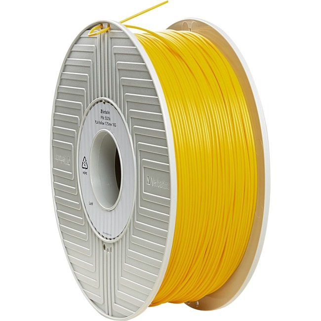 Verbatim PLA 3D Filament 1.75mm 1kg Reel - Yellow - TAA Compliant
