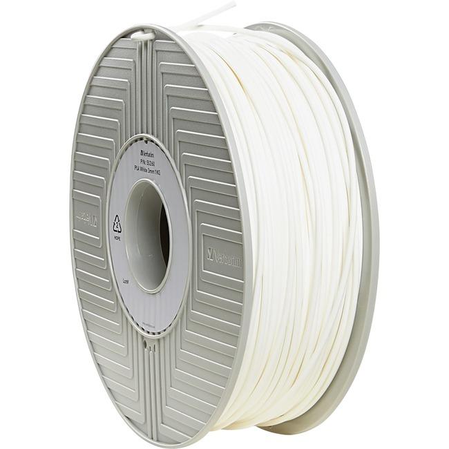Verbatim PLA 3D Filament 3mm 1kg Reel - White - TAA Compliant