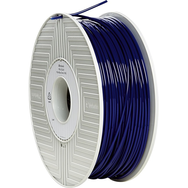 Verbatim PLA 3D Filament 3mm 1kg Reel - Blue - TAA Compliant