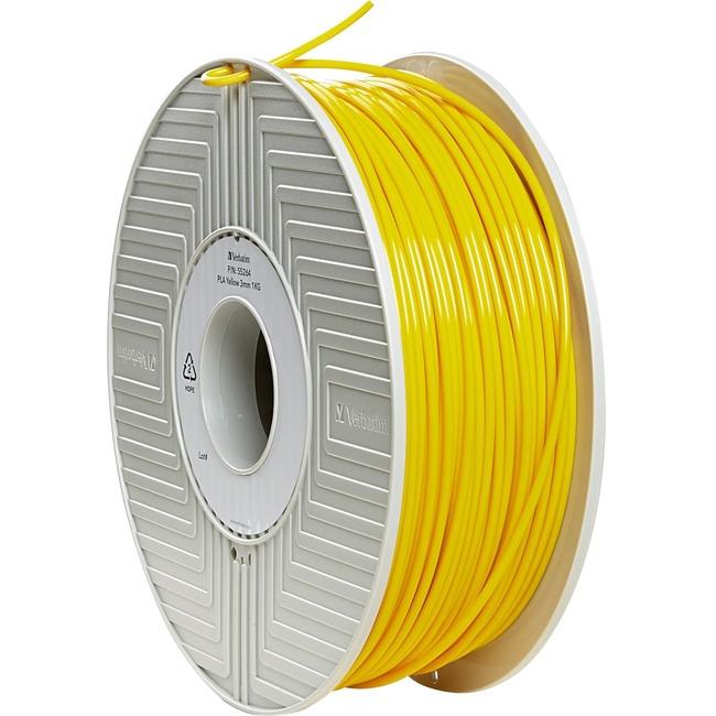 Verbatim PLA 3D Filament 3mm 1kg Reel - Yellow - TAA Compliant