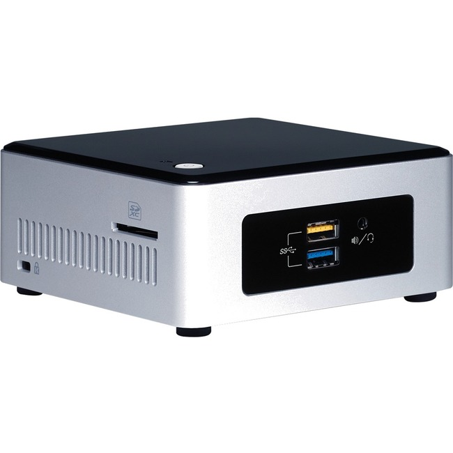 Intel NUC Desktop Computer | Intel Pentium N3700 1.60 GHz | Mini PC | Silver, Black