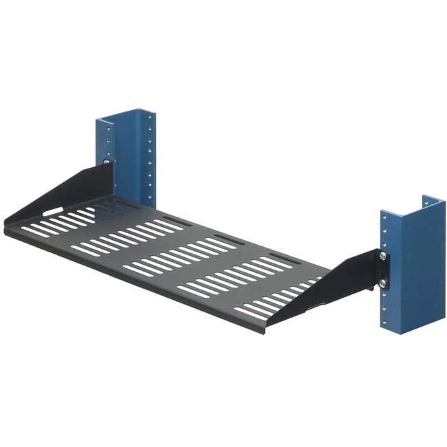 2 POST RACK SHELF - 7IN SOLID FLANGES DOWN
