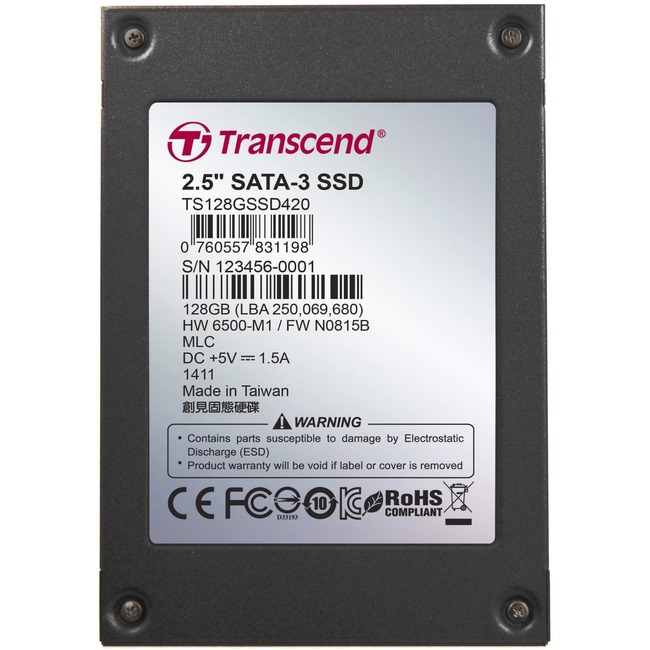 "Transcend 128 GB 2.5"" Internal Solid State Drive"