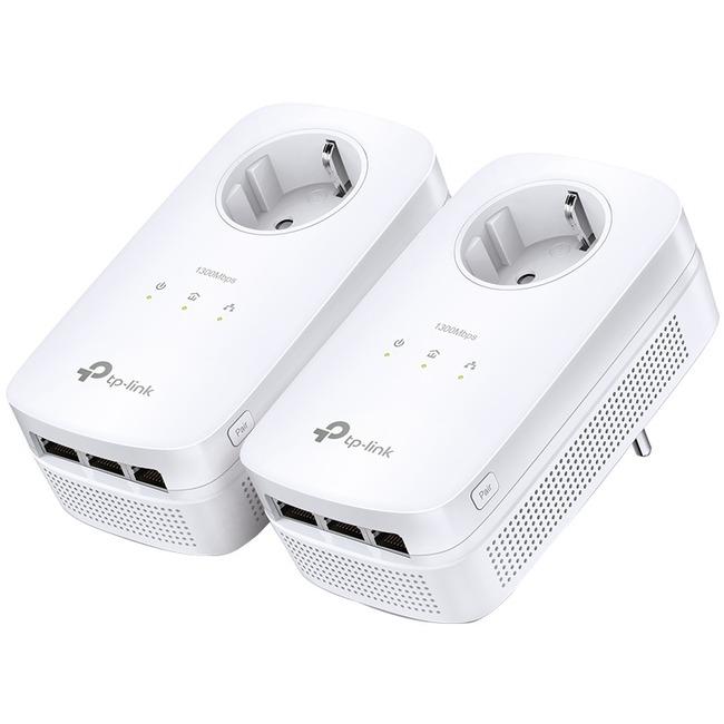 TP-LINK AV1200 3-Port Gigabit Passthrough Powerline Starter Kit