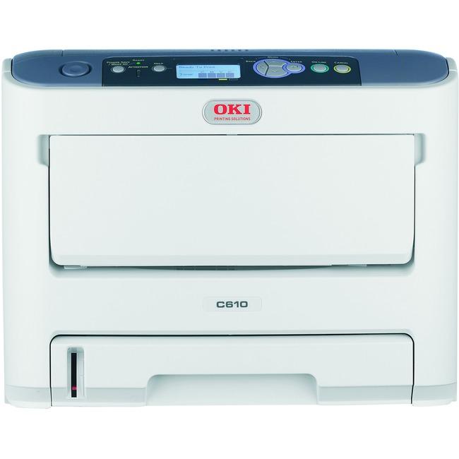 Oki C610DN LED Printer - Color - 1200 x 600 dpi Print - Plain Paper Print - Desktop