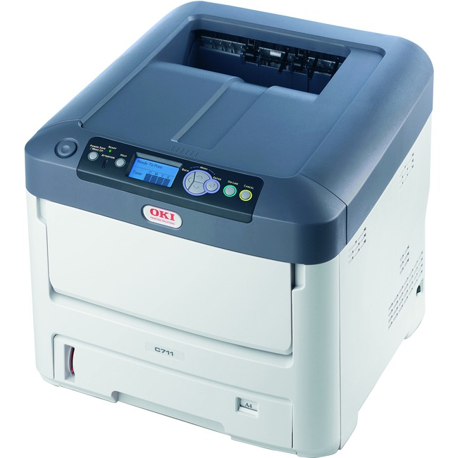 Oki C711DTN LED Printer - Color - 1200 x 600 dpi Print - Plain Paper Print - Desktop