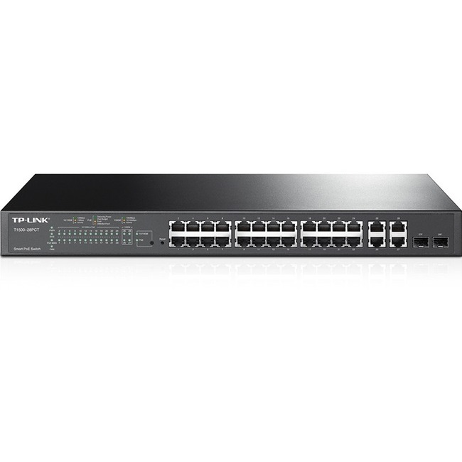 TP LINK T1500-28PCT 24PORT 10/100+4PORT GIGABIT POE+ SMART SWITCH