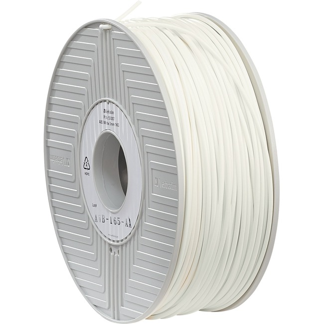 Verbatim ABS Filament 3mm 1kg Reel - White - TAA Compliant
