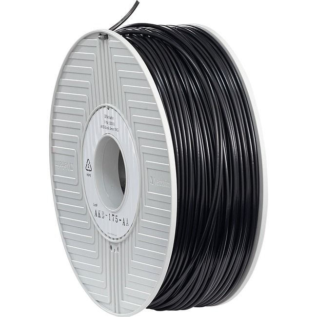 Verbatim ABS Filament 3mm 1kg Reel - Black - TAA Compliant