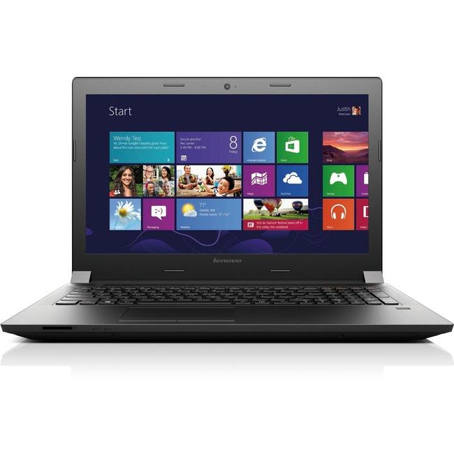 "Lenovo B50-80 80EW02CXUS 15.6"" Notebook - Intel Celeron 3205U Dual-core (2 Core) 1.50 GHz - Black"