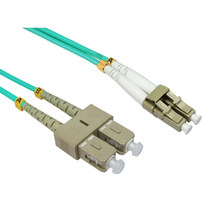 10m Cables Direct Fibre Optic Network Cable OM4  LC - SC
