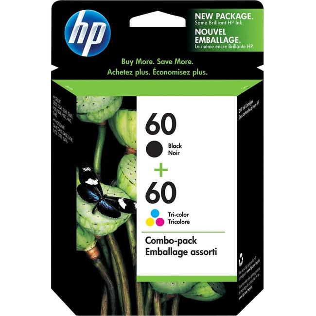 HP 60 Original Ink Cartridge - Black, Tri-color