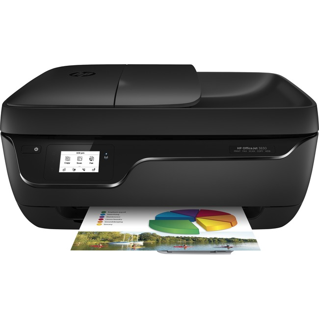 HP Officejet 3830 Inkjet Multifunction Printer - Color - Plain Paper Print - Desktop