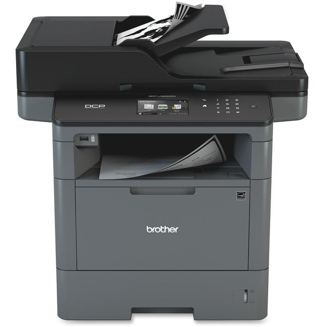 Brother DCP-L5650DN Laser Multifunction Printer - Monochrome - Plain Paper Print - Desktop