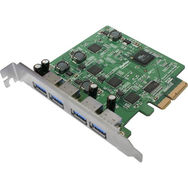 HighPoint Controller card RU1144D 4Port USB3.0 RocketU 1144D PCI-Express 2.0x4 HBA Retail
