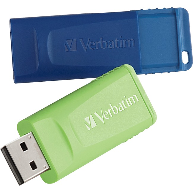 Verbatim 16GB Store 'n' Go USB Flash Drive - 2pk - Blue, Green