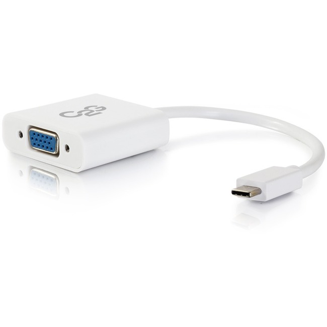 C2G USB-C to VGA Video Adapter   White