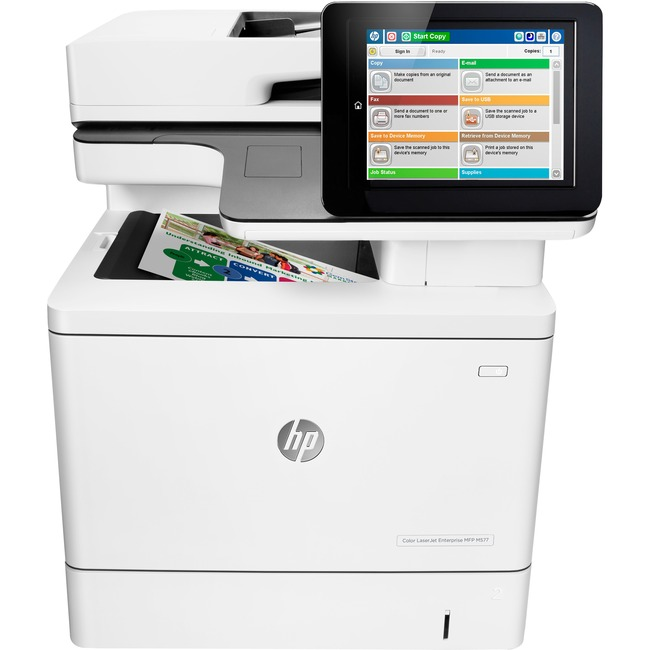 HP LaserJet M577dn Laser Multifunction Printer - Color - Plain Paper Print