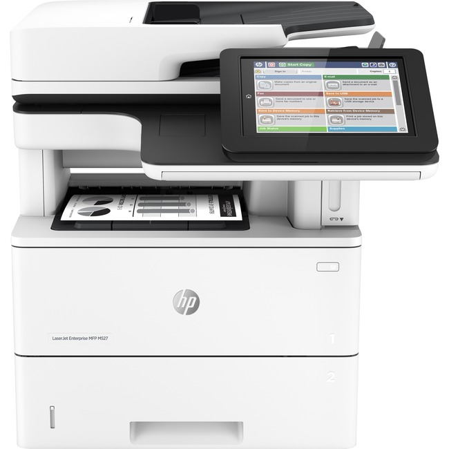 HP LaserJet M527dn Laser Multifunction Printer - Monochrome - Plain Paper Print