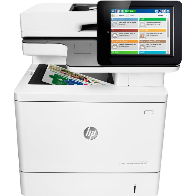 HP LaserJet M577c Laser Multifunction Printer - Color - Plain Paper Print