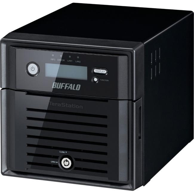 Buffalo TeraStation 3200 2 x Total Bays NAS Server - Desktop - Marvell ARMADA XP MV78230 Dual-core 2 Core 1.33 GHz - 4 TB HDD - 1 GB RAM DDR3 SDRAM - Serial ATA/30