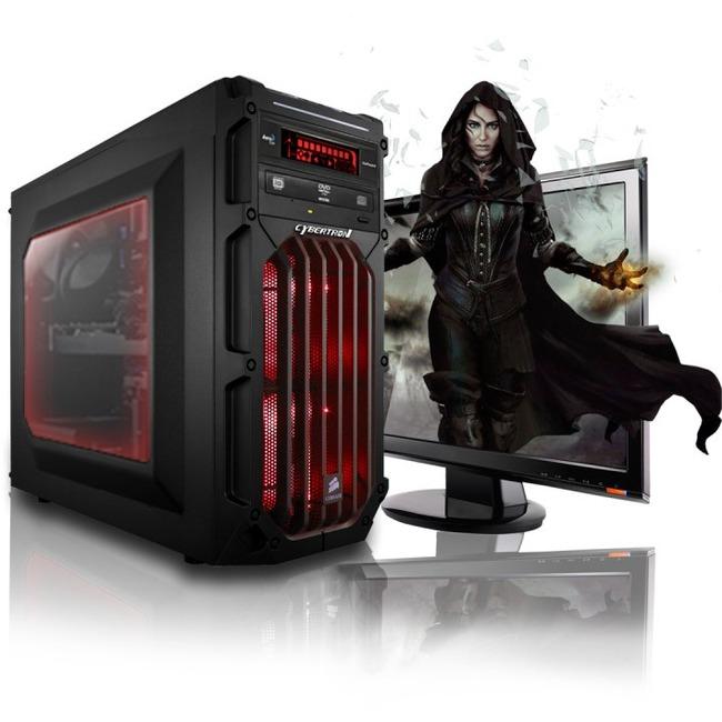 CybertronPC Flux X99 X4 TGMFLUXX99445RD Desktop Computer - Intel Core i7 (5th Gen) i7-5820K 3.30 GHz - Mid-tower - Red