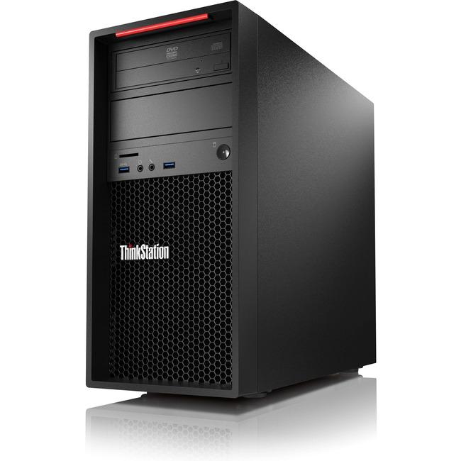Lenovo ThinkStation P310 30AT000FUS Workstation | 1 x Intel Xeon E3-1245 v5 Quad-core (4 Core) 3.50 GHz | 8 GB DDR4 SDRAM | 1 TB HDD | Intel HD Graphics P530 Graphics | Windows 7 Professional 64-bit upgradable to Windows 10 Pro | Tower | Raven Black
