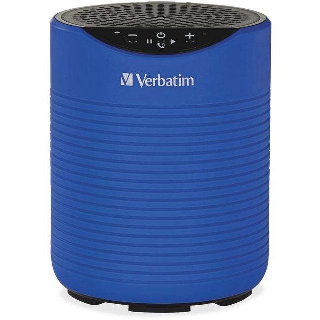 Verbatim Speaker System   Portable   Battery Rechargeable   Wireless Speaker(s)   Blue